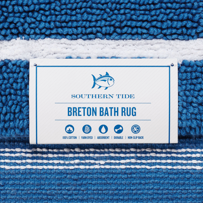 Southern Tide Breton Striped Bath Rug