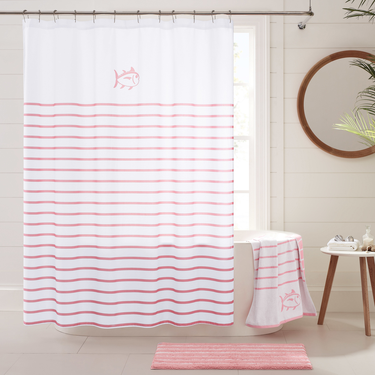 Southern Tide Breton Striped Shower Curtain