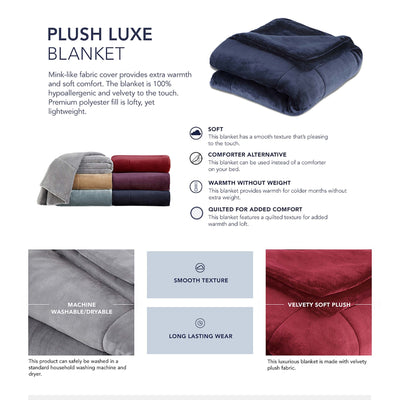 Vellux Plush Luxe Filled Blanket