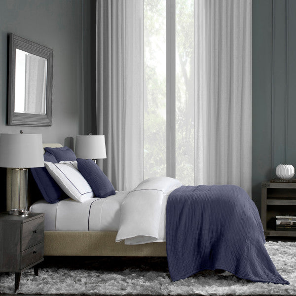 FlatIron Hotel Satin Stitch Full/Queen Duvet Cover