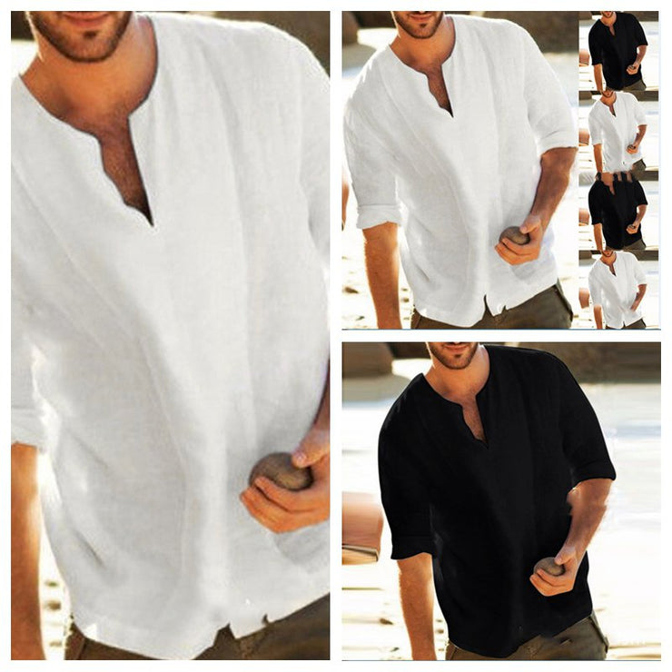Men's Solid Colors Casual Thin Half Sleeve T-shirts