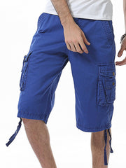 Men loose large size casual shorts