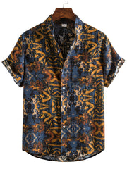 Men's Printed Linen Tribal Shirts