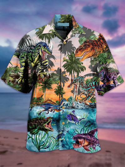 Cotton-Blend Vintage Animal Shirts & Tops