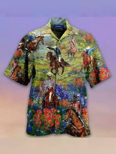 Regular Fit Short Sleeve Casual Hawaiian Shirt for Men