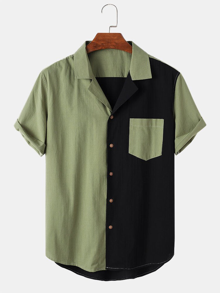 Men's Paneled Casual Solid Shirts