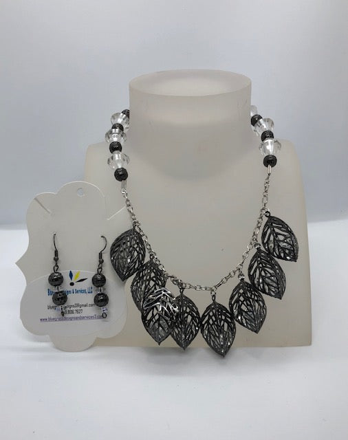 Gunmetal Leaf Set
