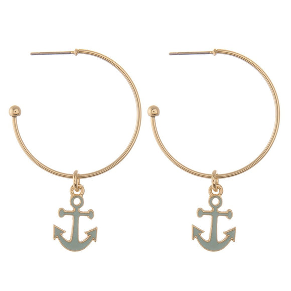 Small Anchor Earrings