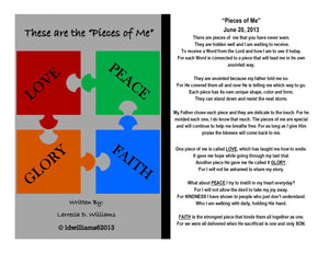 These are the Pieces of Me (Framed Poetry)