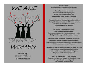 We Are Women Framed Poetry