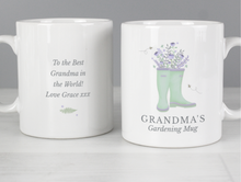 Load image into Gallery viewer, Personalised Wellies Gardener/Allotment Mug