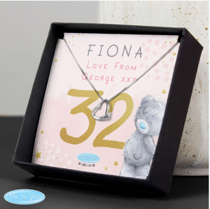 Personalised Me To You Age Heart Necklace