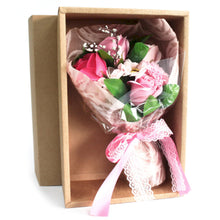 Load image into Gallery viewer, Soap flower bouquet in box (choice of colours)