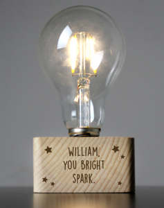 Personalised LED starts Light Bulb Table Lamp