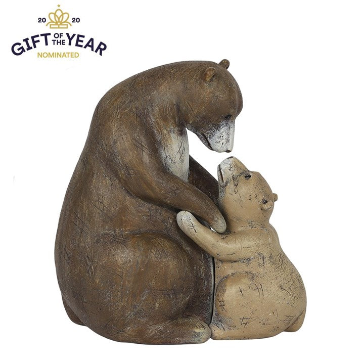 I LOVE YOU BEARY MUCH BEARS HUGGING ORNAMENT