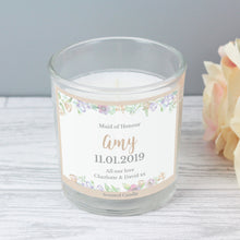 Load image into Gallery viewer, Floral Personalised Candle