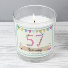 Load image into Gallery viewer, Personalised Birthday Craft Scented Jar Candle