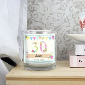 Personalised Birthday Craft Scented Jar Candle