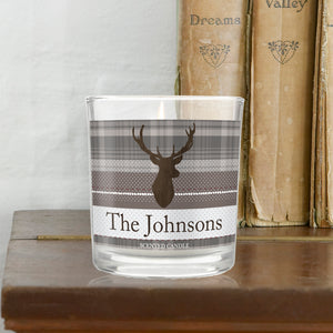 Personalised Stag Scented Jar Candle