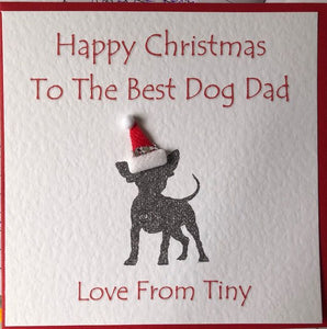 To the best dog dad/mum or any relation From The Dog Christmas Card Personalised