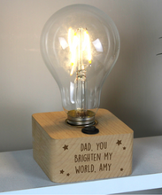 Load image into Gallery viewer, Personalised LED starts Light Bulb Table Lamp