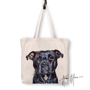 Dog breed tote bag