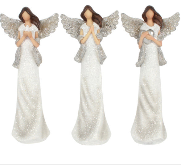 Peace Pray Love set of 3 Angel Ornaments 20cm