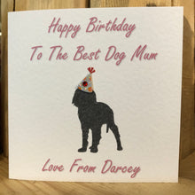 Load image into Gallery viewer, From the dog Best Dad or Mum Birthday Card Personalised