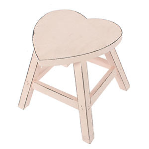 Pink shabby chic heart stool