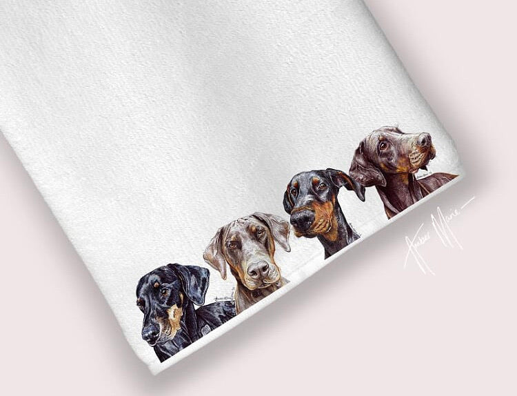 Dog (any breed) tea towel