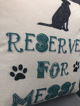 Load image into Gallery viewer, Personalised reserved for the dog cushion