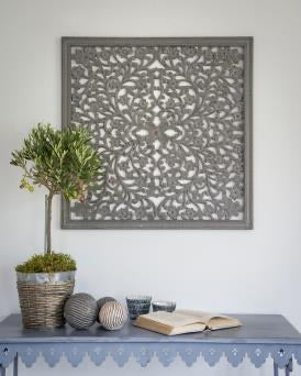Grey carved wall panel 75cm *PRE ORDER FOR OCT DEL*