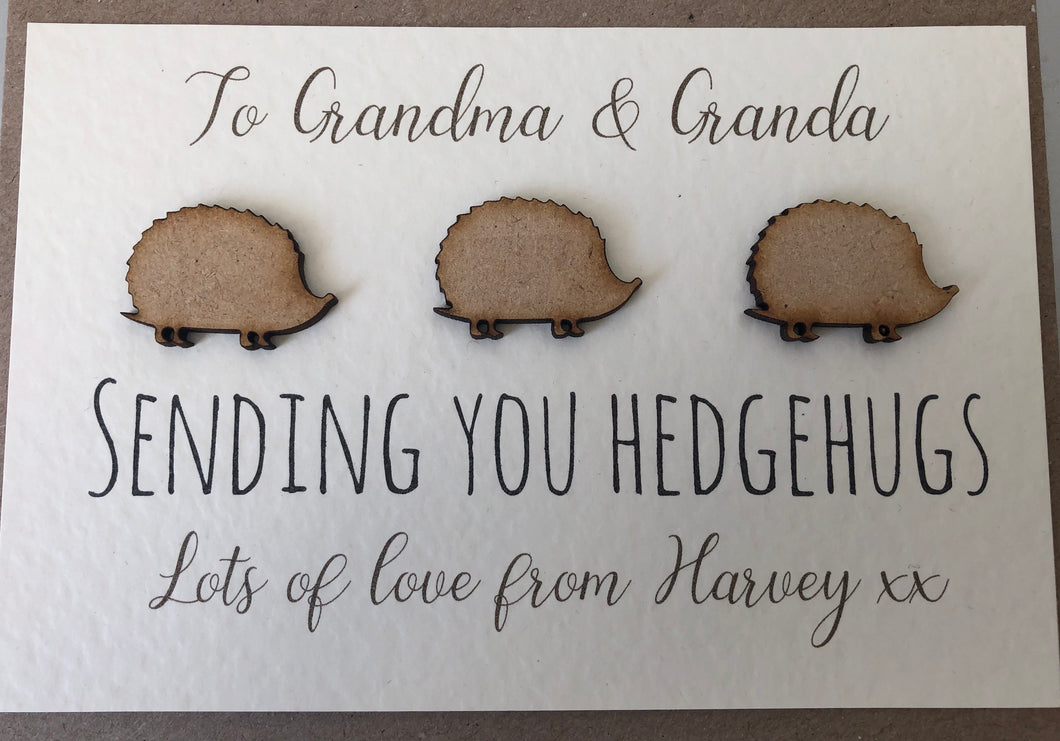 Personalised Pocket HedgeHug Thinking of You Card