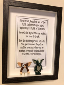 Gremlins Inspired Mini Figure & Quote