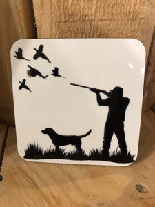 Pheasant shooting coaster