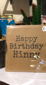 Happy Birthday Hinny Card