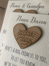 Load image into Gallery viewer, Personalised Pocket Hug Thinking of You Card