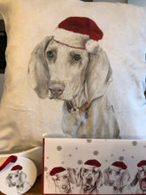 Load image into Gallery viewer, Dog (any breed) Christmas cushion