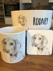 Personalised dog bowl (any breed)