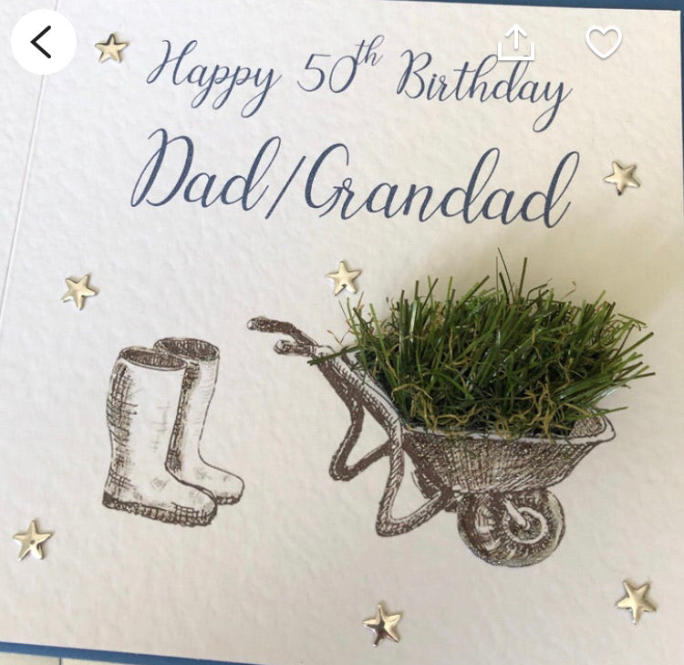 Personalised Gardening/Gardner Card