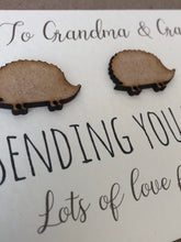 Load image into Gallery viewer, Personalised Pocket HedgeHug Thinking of You Card