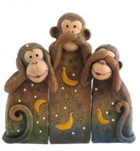 See, speak, hear no evil monkeys