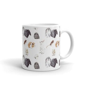 Rabbits, mice, guinea pigs & hamsters patterned mug
