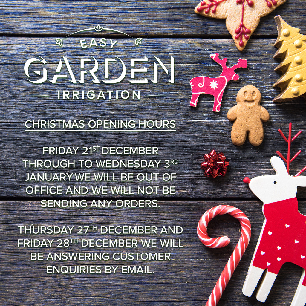 Christmas Opening Hours for 2018
