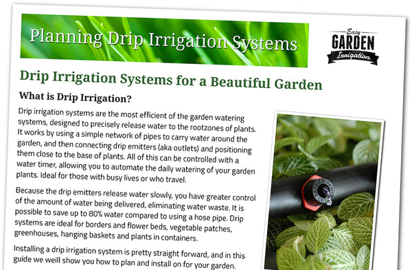Drip Irrigation System Planning and Installation Guide