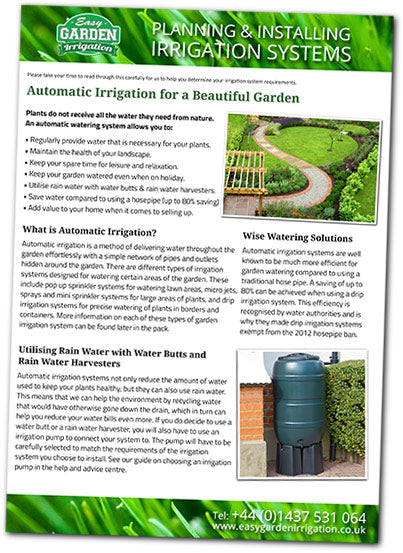 Download The Irrigation Design Pack U0026 Starter Guide