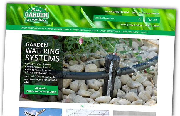 New Easy Garden Irrigation Website
