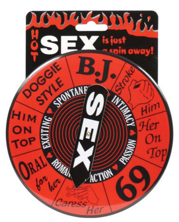 Sex spinner game button