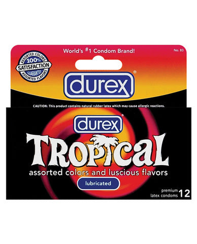 Durex condoms tropical color and scents - box of 12