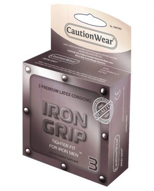 Caution wear iron grip snug fit - pack of 3